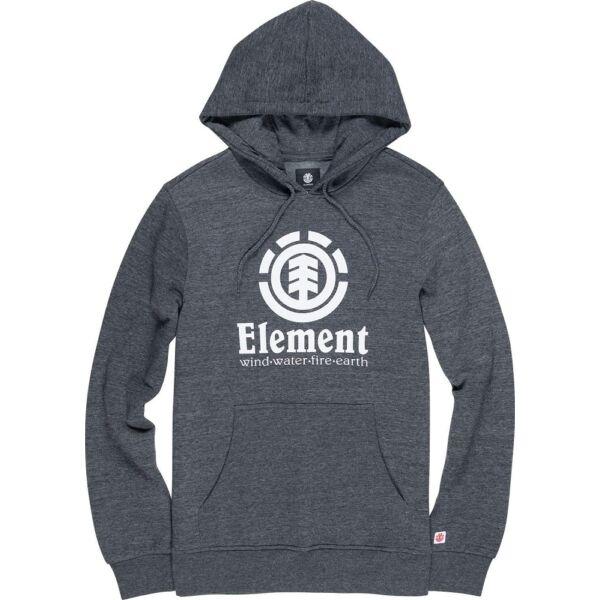 ELEMENT Vertical sötétszürke kapucnis pulóver nagy fehér Element logóval