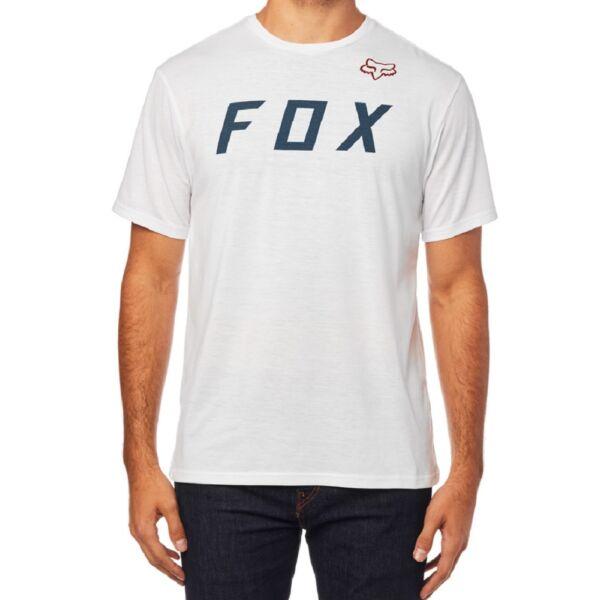 FOX Grizzled fehér technikai póló kék fox felírattal