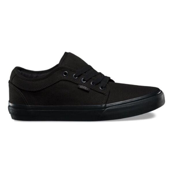 fekete vászon vans cipő fekete gumi talppal
