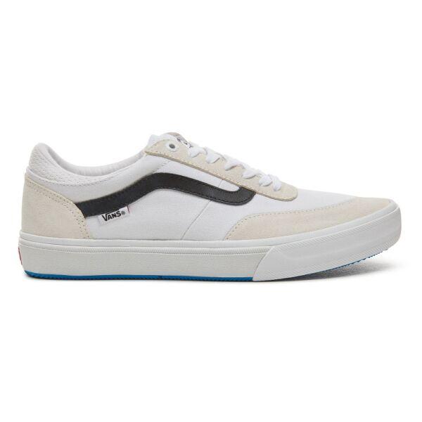 Vans Gilbert Crockett Pro fehér hasított bőr gördeszkás cipő fekete vans csíkkal az oldalán