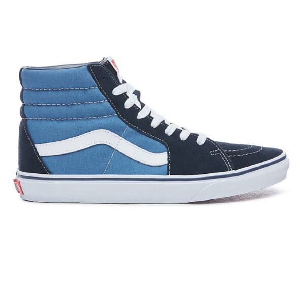 VANS SK8-HI kék magasszárú cipő fehér vans csíkkal az oldalán