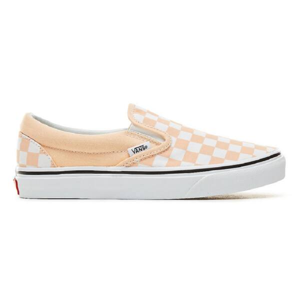 VANS Classic Slip-on (Checkboard) barack - fehér kockás vans belebújós cipő