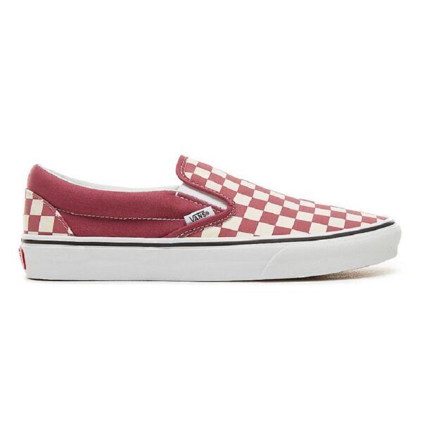 VANS Classic Slip-on (Checkboard) piros-fehér kockás vans cipő