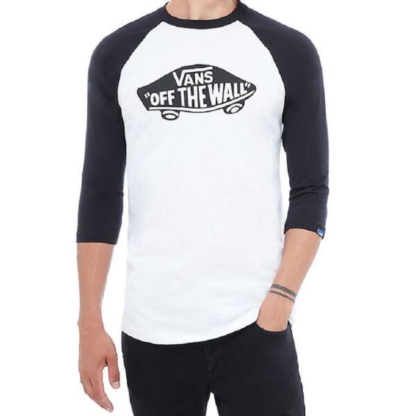 Vans OTW Raglan fehér 3/4-es fekete ujjú póló