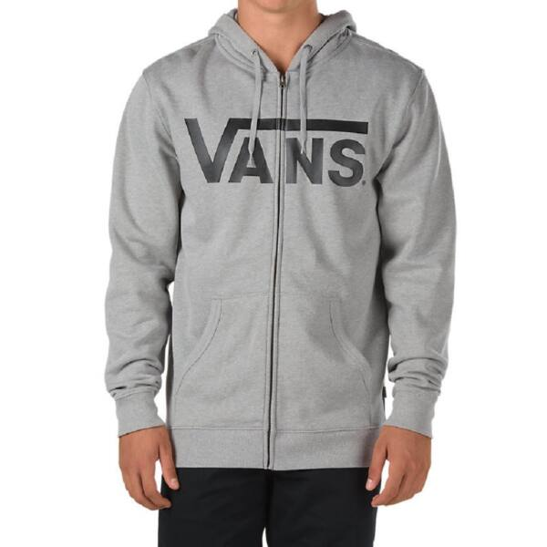 VANS Classic cipzáros szürke pulóver fekete vans felirattal