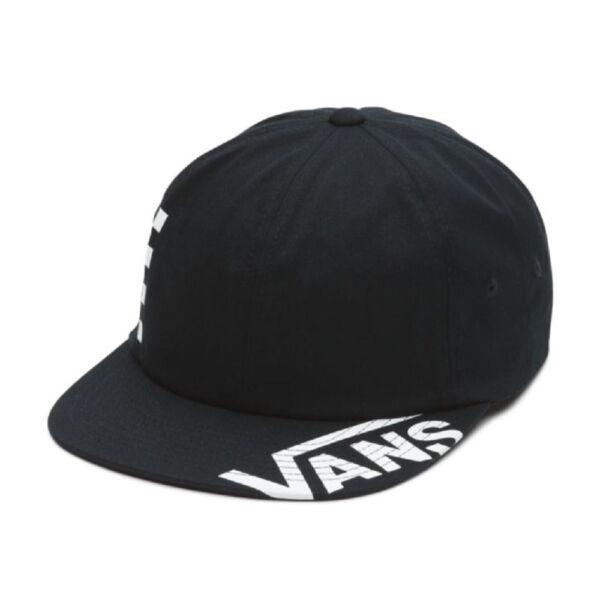VANS Distort Jockey   Black 100 % pamut retro fit csatos baseball sapka nyomott mintával