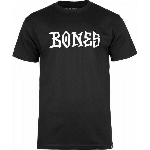 BONES Frontal fekete póló fehér bones felírattal