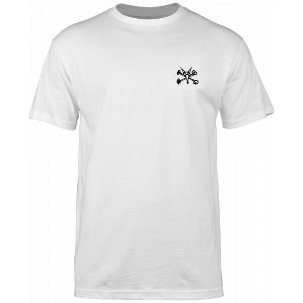 BONES Mini Rat fehér póló kis fekete bones logóval