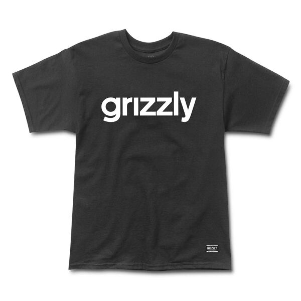 GRIZZLY Lowercase Black  póló