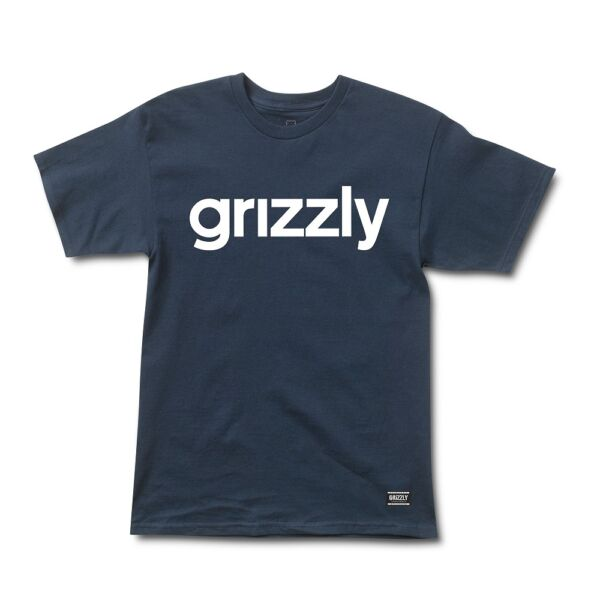 GRIZZLY Lowercase  #  Navy / White