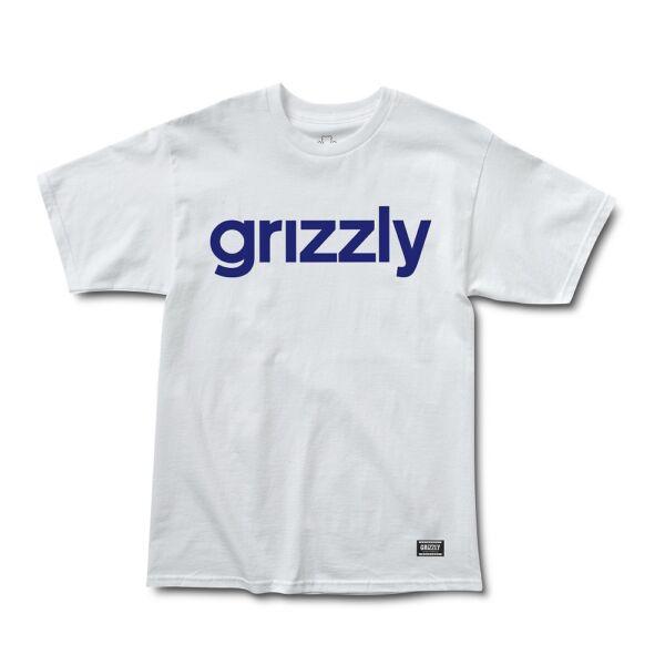 GRIZZLY Lowercase fehér póló sötétkék Grizzly felírattal