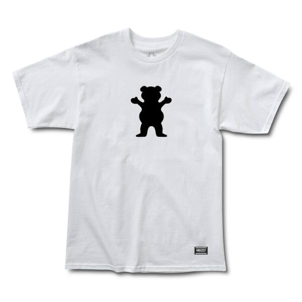 GRIZZLY OG Bear Basic fehér póló