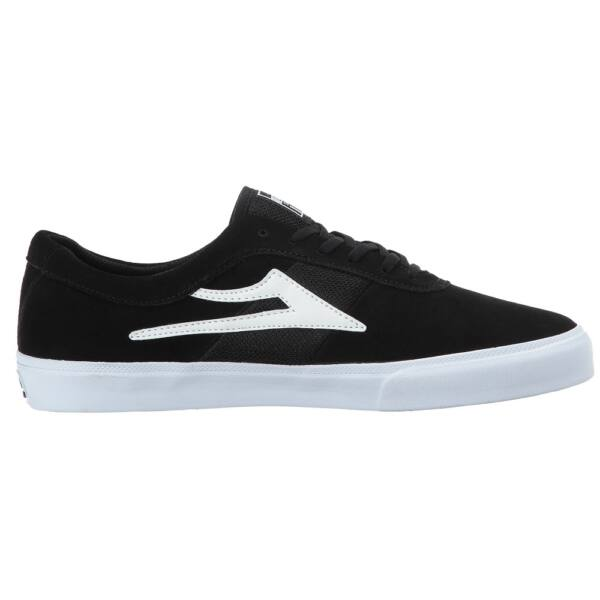 Lakai Sheffield fekete hasított bőr gördeszkás cipő fehér lakai logóval az oldalán