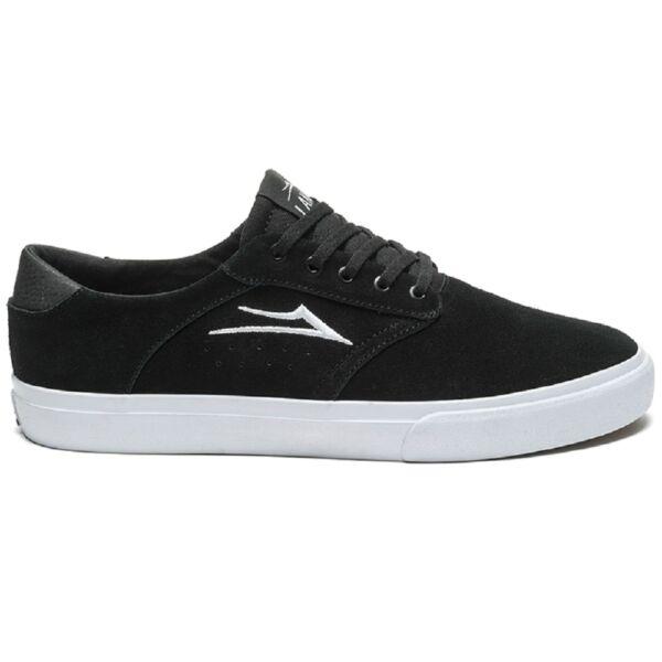 LAKAI Porter fekete hasított bőr cipő fehér lakai logóval az oldalán