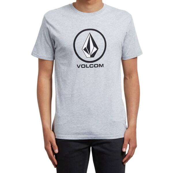 világos szürke Volcom póló fekete nagy volcom logóval