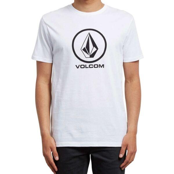 fehér Volcom póló nagy fekete volcom logóval
