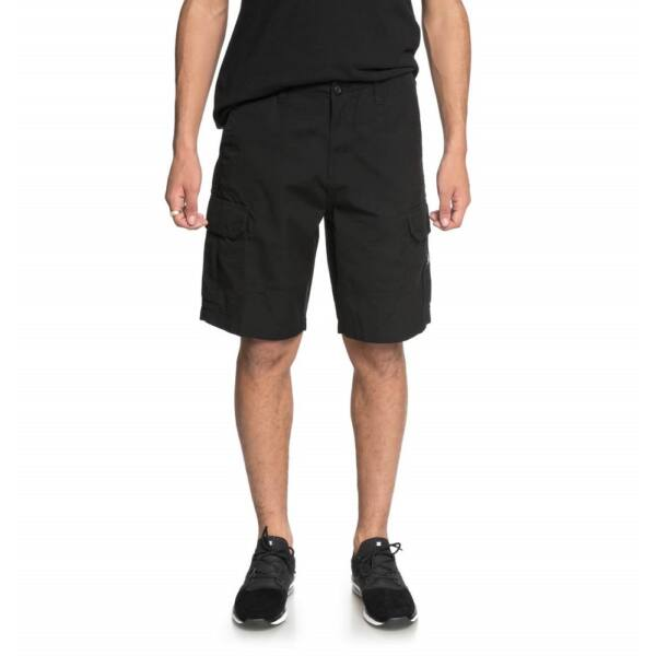 DC Ripstop Cargo Short fekete oldalzsebes rövidnadrág