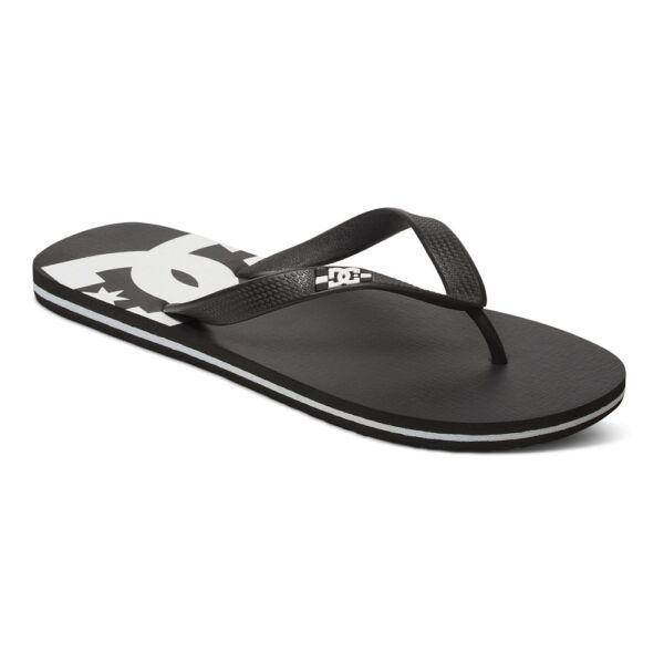 fekete Dc flip flop papucs fehér nyomott DC logóval