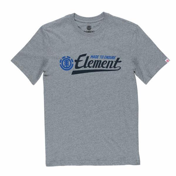 szürke element póló fekete  element felírattal és kék logóval
