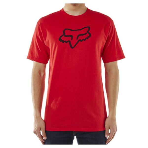 FOX Legacy Foxhead piros póló nagy fekete fox logóval