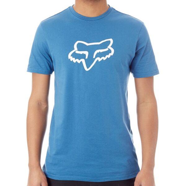 FOX Legacy Foxhead kék póló fehér fox logóval