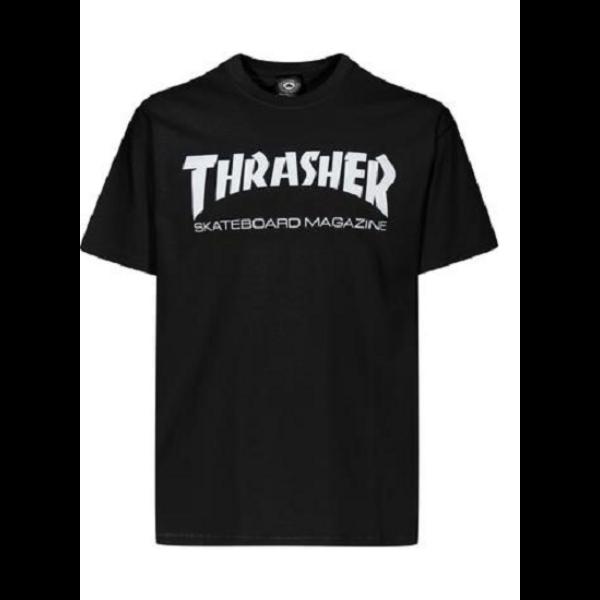 fekete thrasher póló, fehér thrasher felírattal