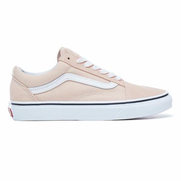 VANS Old Skool rózsaszín cipő fehér vans csíkkal az oldalán