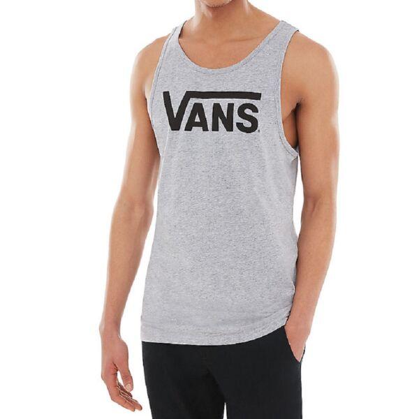 VANS Classic Tank szürke férfi trikó kék vans felirattal