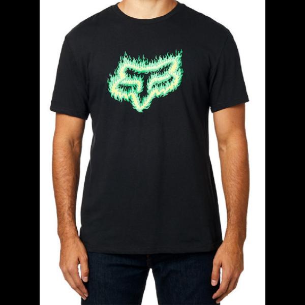 FOX Flame Head  #  Black / Green
