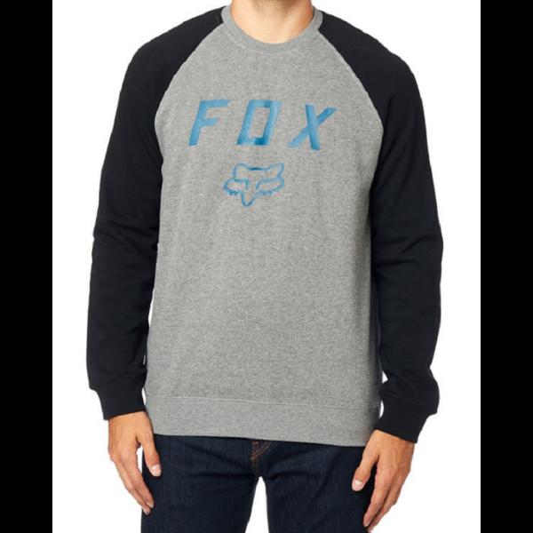 FOX Legacy Crew  #  Black / Grey környakas pulóver