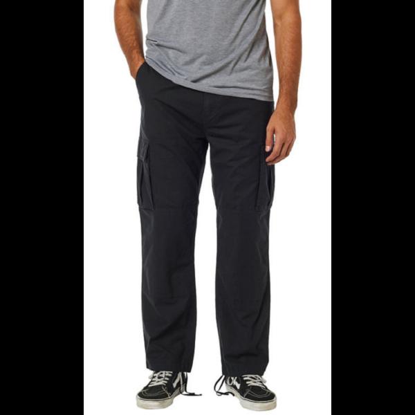 FOX Recon Stretch Cargo Pant - black, Relaxed fit fazonú oldalzsebes vászon nadrág