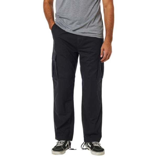 FOX Recon Stretch Cargo Pant - black, Relaxed fit fazonú oldalzsebes vászon nadrág