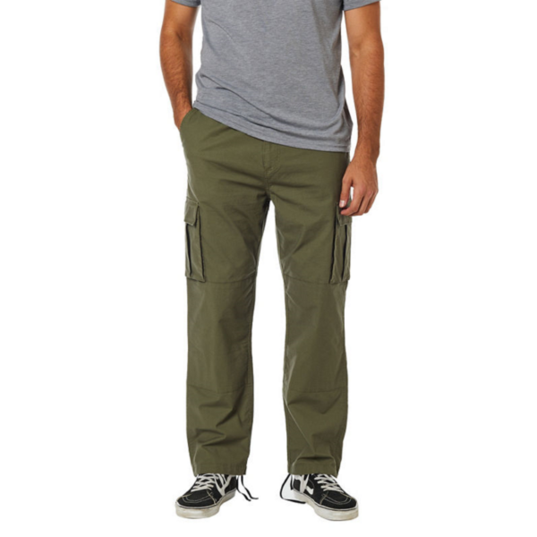 FOX Recon Stretch Cargo Pant  #  Olive green Relaxed fit fazonú oldalzsebes vászon nadrág