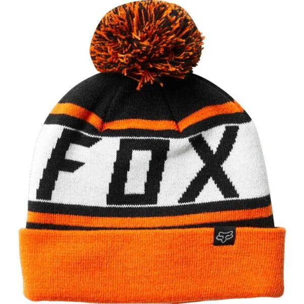 FOX Throwback Beanie  #  Orange pompomos kötött sapka
