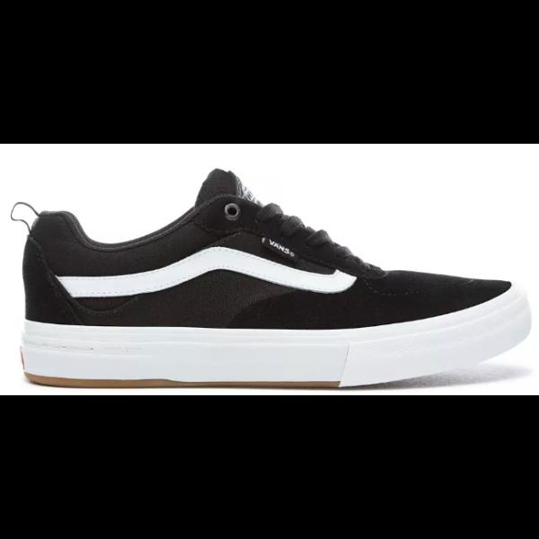 Vans Kyle Walker pro fekete gördeszkás cipő fehér vans csíkkal az oldalán