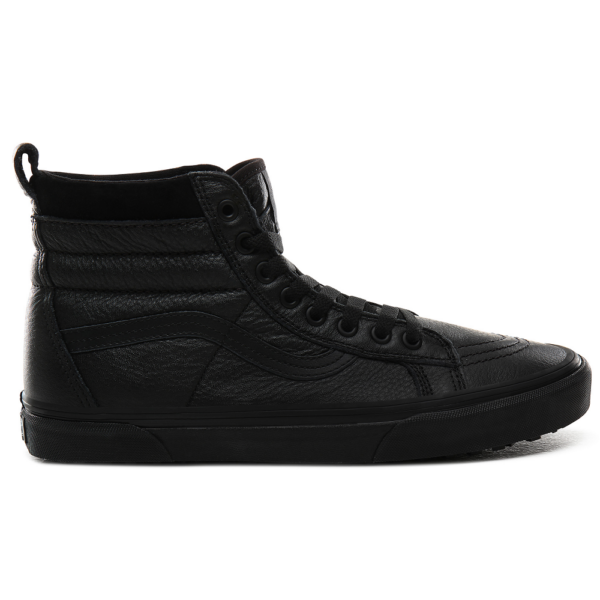 VANS SK8-HI MTE  # Leather / Black , fekete vans magas szárú cipő