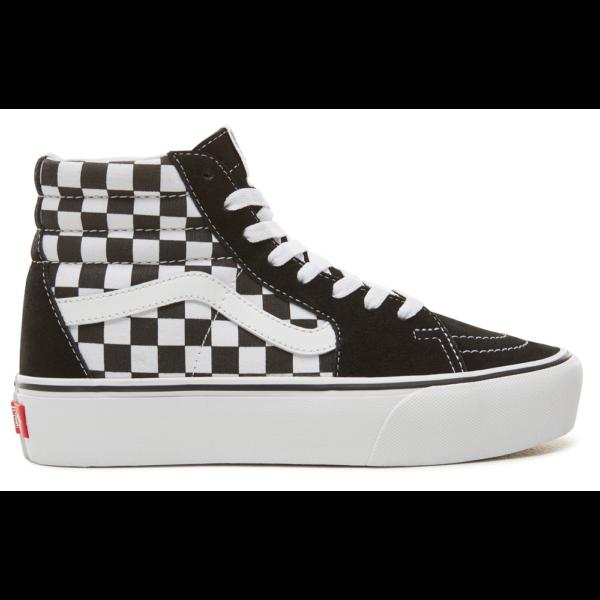 VANS SK8-HI Platform 2 (Checkerboard) fekete fehér kockás cipő