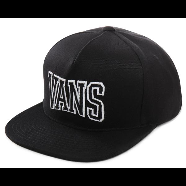 VANS SVD University 110 Snapback  #  Black / White, fekete baseball sapka egyenes silddel fehér vans felirattal