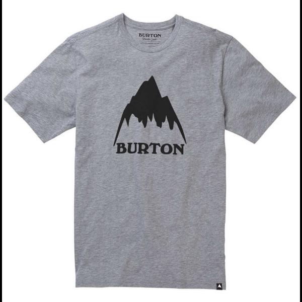 BURTON Classic Mountain High szürke póló fekete nyomott mintával