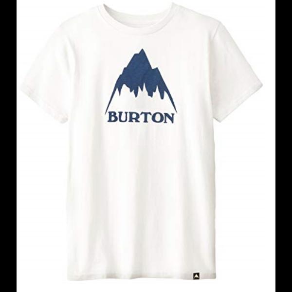 BURTON Classic Mountain High fehér póló kék nyomott mintávall