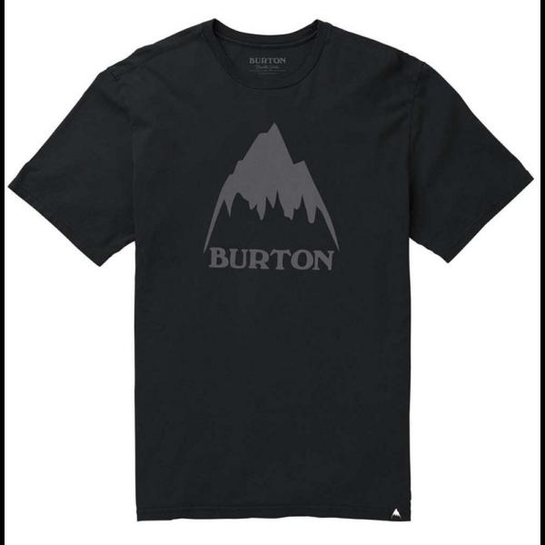 BURTON Classic Mountain High fekete póló szürke nyomott muntával