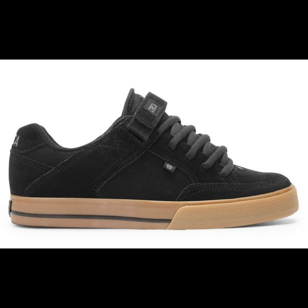 CIRCA 205 Vulc  fekete hasított bőr gördeszkás cipő barna gumitalppal