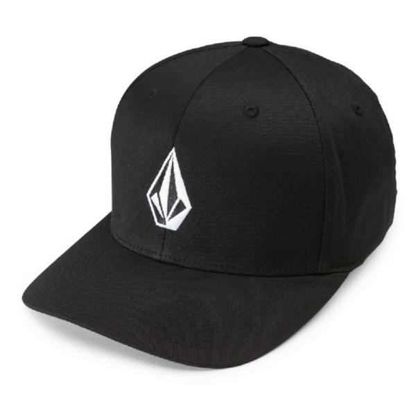 fekete volcom baseball sapka fehér kis volcom logóval