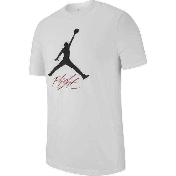 NIKE Jordan Jumpman Flight Hbr fehér póló nyomott mintával