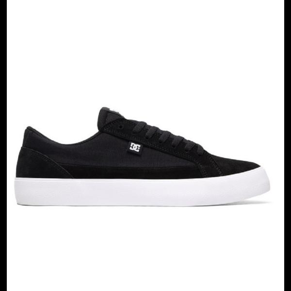 DC Lynnfield  #  Black / White, fekete DC gördeszkás cipő