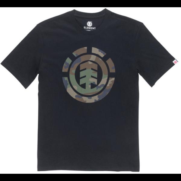 ELEMENT Foundation fekete póló terep mintás element logóval