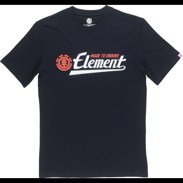 ELEMENT Signature fekete Element póló fehér element felírattal piros kis logóval