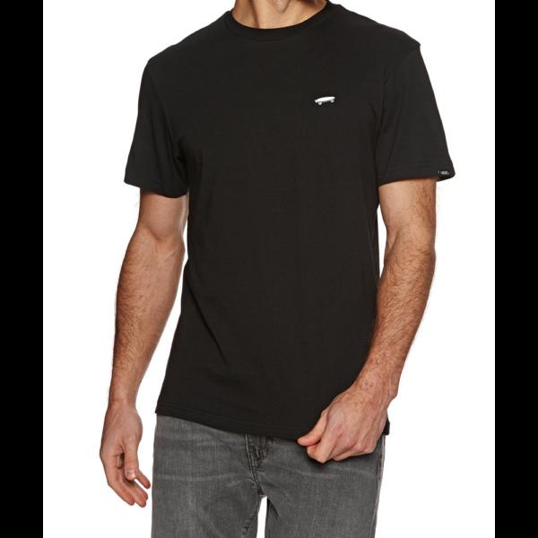 VANS Skate fekete póló kis hímzett fehér gördeszka logóval