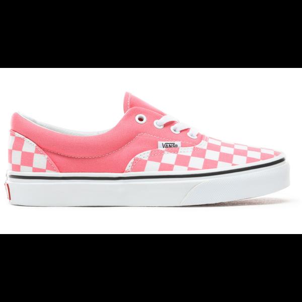 VANS Era (Checkerboard)  #  Strawberry pink / True white