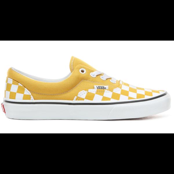 VANS Era (Checkerboard) - sárga-fehér kockás vászon tornacipő